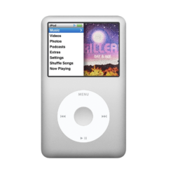 used ipod classic 80gb. second hand ipod classic 80gb silver a